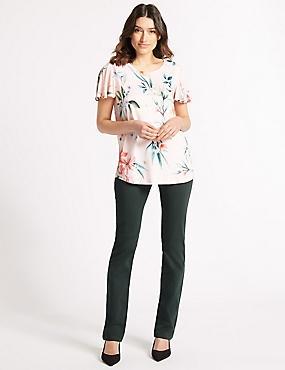 Straight Leg Roma Rise Jeans , , catlanding