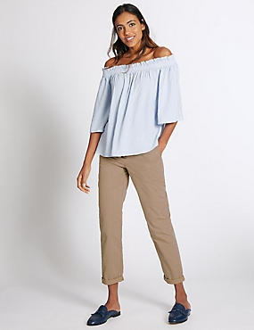 Pure Cotton Turn-up Chinos, NEUTRAL, catlanding