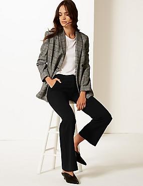 Slim Bootcut Trousers, BLACK, catlanding