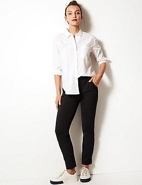 Spotted Slim Leg Trousers, BLACK MIX, catlanding