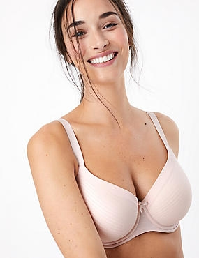 Sumptuously Soft Padded Full Cup T-Shirt Bra A-DD, PALE ROSE, catlanding