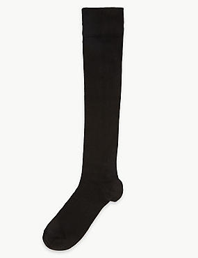 Heatgen™ Knee High Socks, BLACK, catlanding
