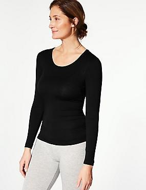 Heatgen™ Thermal Long Sleeve Top, BLACK, catlanding