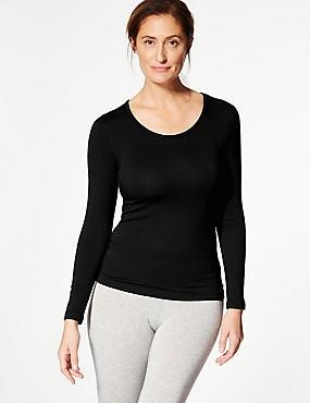 Heatgen Plus™ Thermal Long Sleeve Top, BLACK, catlanding