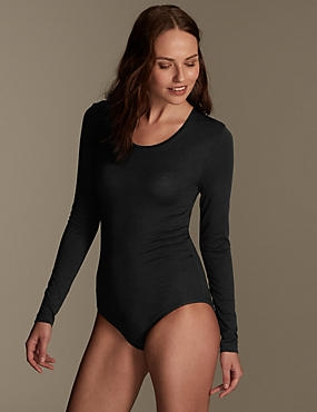 Heatgen™ Thermal Long Sleeve Body, BLACK, catlanding