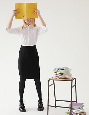 Senior Girls' Ponte Skirt, BLACK, catlanding