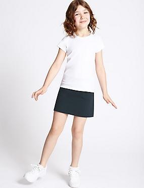 Girls' Cotton Sports Skorts with Stretch, DARK NAVY, catlanding