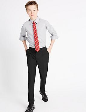 Senior Boys' Skinny Leg Trousers, BLACK, catlanding