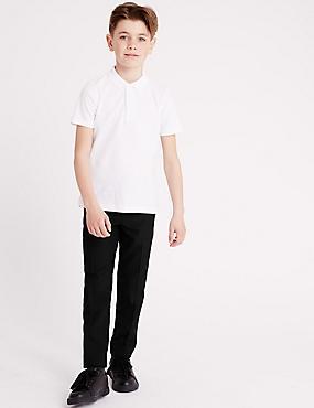 Boys' Longer Length Supercrease™ Trousers, BLACK, catlanding