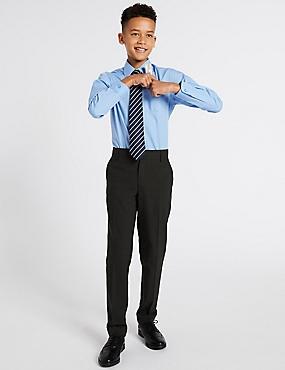 Senior Boys' Skinny Leg Trousers, CHARCOAL, catlanding