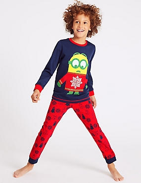 Despicable Me™ Minion Pyjamas (3-14 Years), NAVY MIX, catlanding