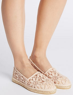 Lace Espadrilles with Insolia Flex®, NUDE, catlanding