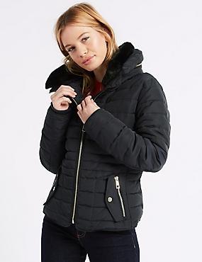 PETITE Padded Jacket with Stormwear™, NAVY, catlanding