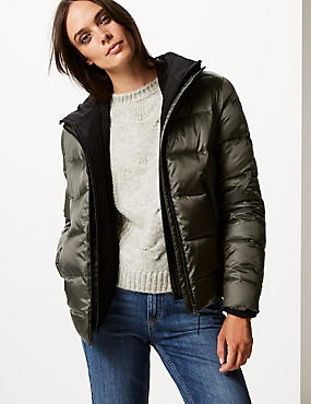 Double Layer Padded Jacket with Stormwear™, KHAKI, catlanding