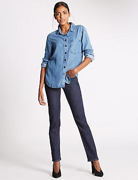 Sculpt & Lift Straight Leg Jeans, INDIGO MIX, catlanding