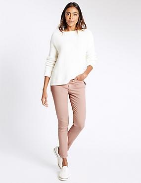 Mid Rise Super Skinny Leg Jeans, BLUSH PINK, catlanding