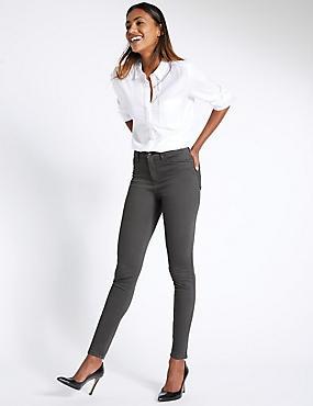 Super Skinny Leg Jeans, GUNMETAL, catlanding