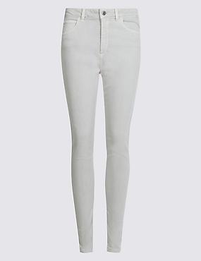 Mid Rise Super Skinny Jeans, SILVER GREY, catlanding