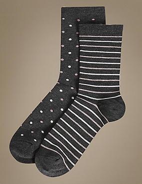 2 Pair Pack Heatgen™ Ankle High Socks, GREY MIX, catlanding
