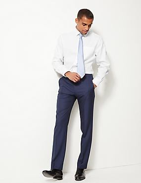 Pure Cotton Non-Iron Shirt, WHITE, catlanding