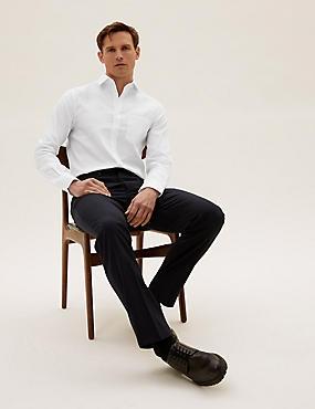 Pure Cotton Non-Iron Slim Fit Shirt , WHITE, catlanding