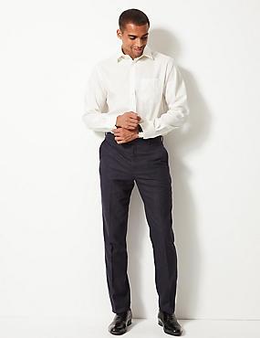 Pure Cotton Non-Iron Shirt, IVORY, catlanding