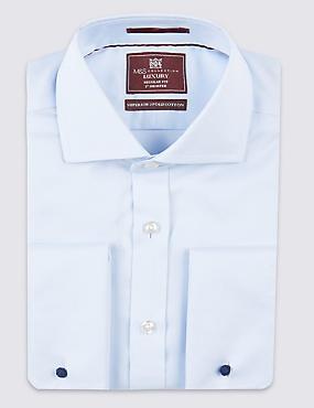 Pure Cotton Non-Iron Shirt, SKY, catlanding
