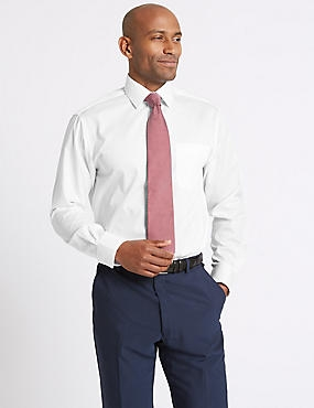 2in Shorter Easy to Iron Shirt with Pocket, WHITE, catlanding