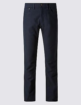 Big & Tall Regular Fit Moleskin Trousers, NAVY, catlanding