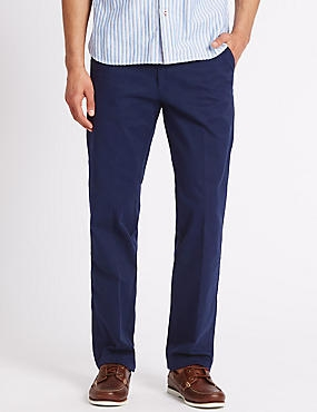 Regular Fit Chinos with Stretch, NAVY, catlanding