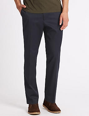 Slim Fit Wrinkle Free Chinos with Stretch, NAVY, catlanding