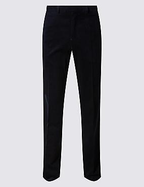 Big & Tall Cotton Rich Corduroy  Trousers, NAVY, catlanding