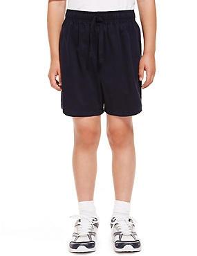 2 Pack Unisex Pure Cotton PE Shorts, NAVY, catlanding