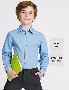 2 Pack Boys' Slim Fit Shirts, BLUE, catlanding