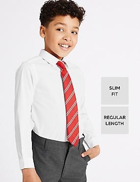 2 Pack Boys' Slim Fit Shirts, WHITE, catlanding