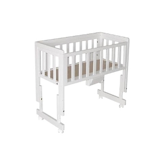 Buy Troll Bedside Crib, White Online at johnlewis.com