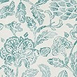 Floral Print Bedding Set, TEAL GREEN, swatch
