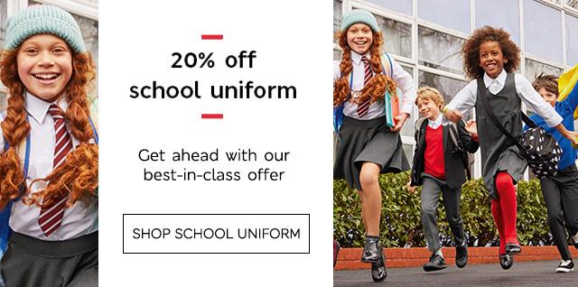 20% off school uniform